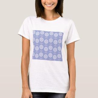 Flores florales púrpuras del arte abstracto del camiseta