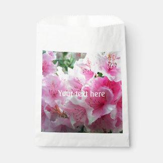 Flores florales rosados de Falln Bolsa De Papel