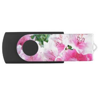 Flores florales rosados de Falln Memoria USB