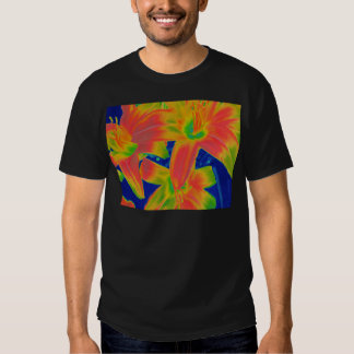 flores fluorescentes camisas