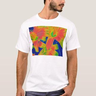 flores fluorescentes camiseta