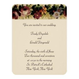 Flores francesas que casan la invitación