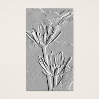 Flores/Grabar en relieve-Como de Lotus tarjeta de