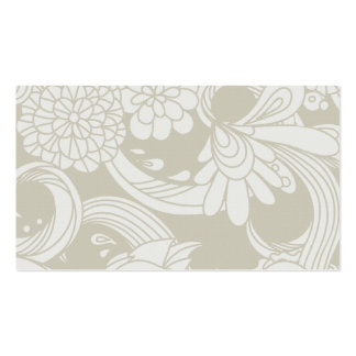 Flores grandes en crema y blanco plantillas de tarjeta de negocio