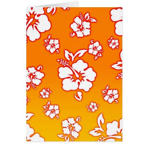 Flores hawaianas felicitacion