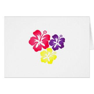 Flores hawaianas tarjeta de felicitación