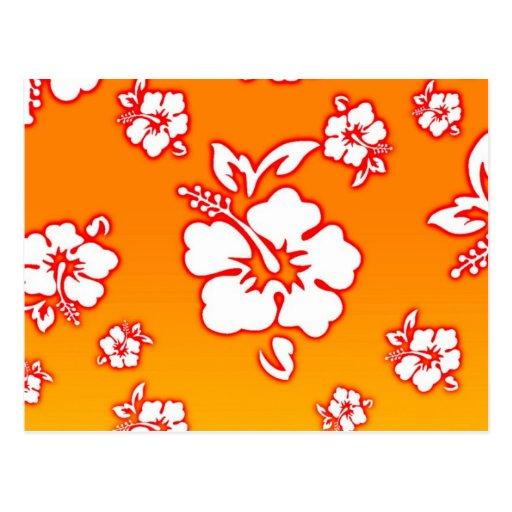 Flores hawaianas postales