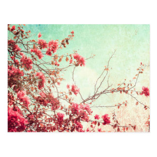 Flores hermosas en estilo retro postal