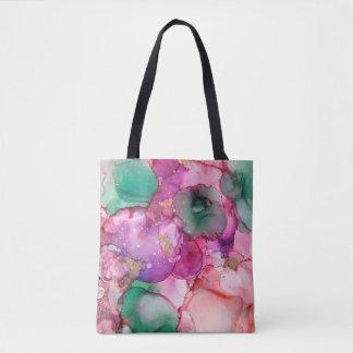 Flores - Inkwork de Karen Ruane Bolso De Tela