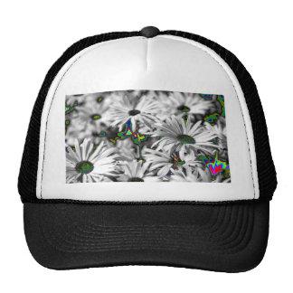 flores inusuales, efecto gorras de camionero