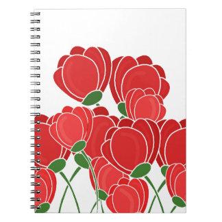 Flores Libros De Apuntes Con Espiral