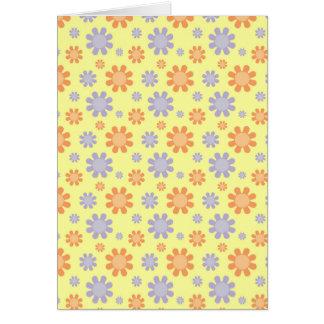 Flores lindas de los años 70 tarjeta de felicitación