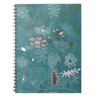 Flores locas libro de apuntes con espiral