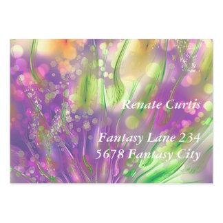 Flores mágicas plantillas de tarjetas de visita