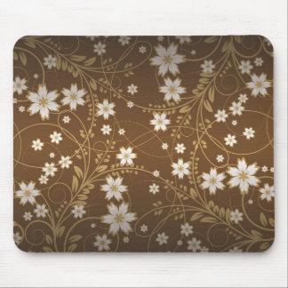 flores marrones del vector del vintage tapete de ratón