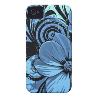 Flores más azules iPhone 4 carcasa