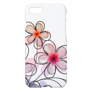 Flores modernas brillantes funda para iPhone 7