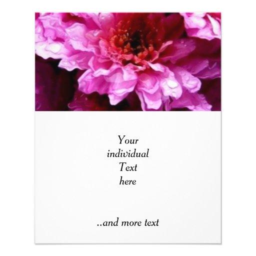 flores mojadas rosadas tarjeton