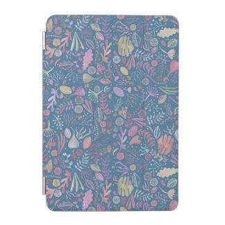 Flores multicolor acuarelas suaves cubierta de iPad mini