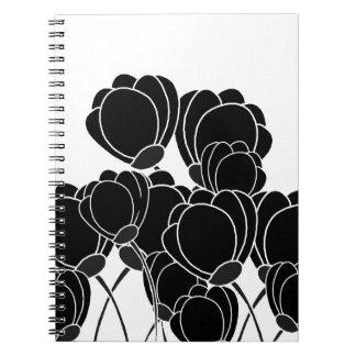 flores negras libretas espirales