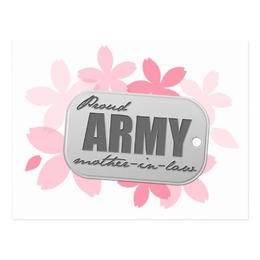 Flores orgullosas de la suegra del ejército postales