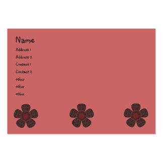 flores oscuras tarjetas de visita grandes