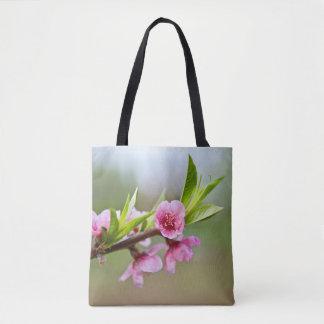 Flores para el tote de la primavera y del verano bolso de tela