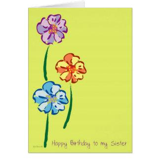 Flores para usted tarjeta de cumpleaños de s de la
