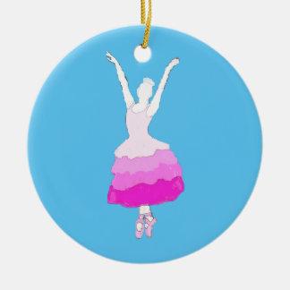 Flores personalizadas del ornamento del adorno navideño redondo de cerámica