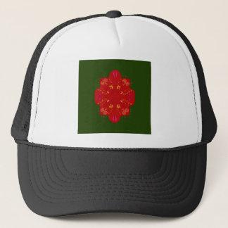 Flores populares handdrawn misteriosas gorra de camionero
