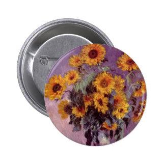 Flores por el botón de Claude Monet Pins