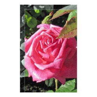 Flores por el lago - rosa papeleria personalizada