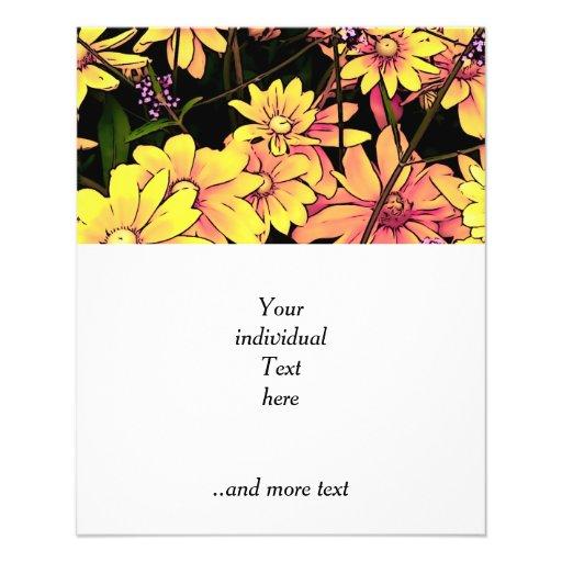 flores preciosas 06 del jardín tarjeta publicitaria