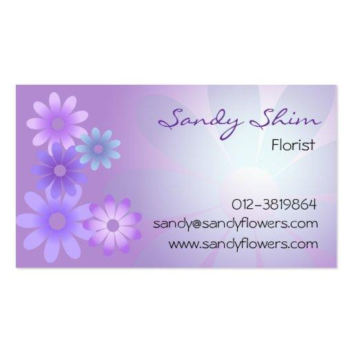 Purple Flower Business Card Template