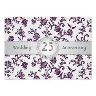 Flores púrpuras del damasco 25to aniversario de b