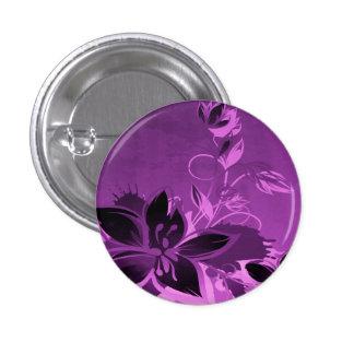 Flores púrpuras del jardín chapa redonda de 2,5 cm