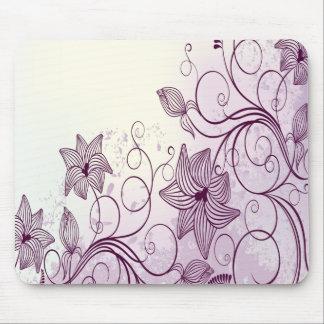 Flores púrpuras muy hermosas alfombrilla de ratón