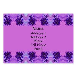 Flores púrpuras tarjetas de visita grandes