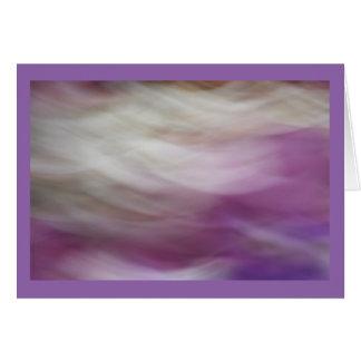Flores púrpuras y blancas tarjeta de felicitación