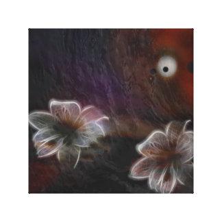 Flores que brillan intensamente abstractas lienzo