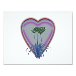 Flores que brillan intensamente brillantes invitación 10,8 x 13,9 cm