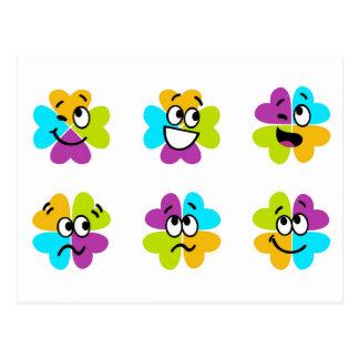 Flores que hacen la postal divertida de las caras