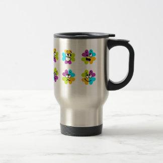 Flores que hacen la taza divertida del acero del