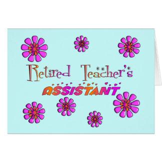 Flores retras auxiliares jubiladas de los profesor tarjeton