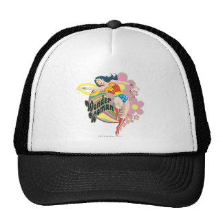 Flores retras de la Mujer Maravilla Gorro