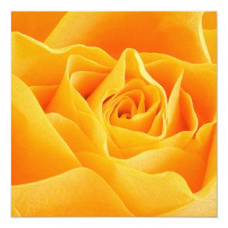 Flores románticas del estilo invitación 13,3 cm x 13,3cm