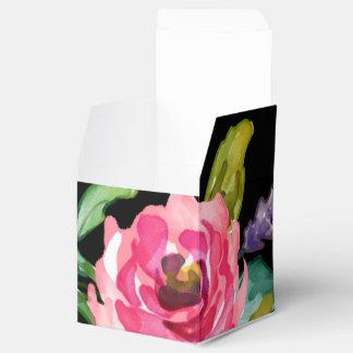 Flores románticas dulces de la acuarela paquete de regalo
