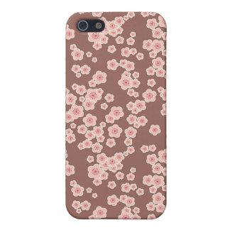 flores rosadas de las flores de cerezo florales iPhone 5 funda