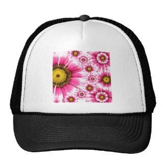 Flores rosadas de lujo gorra
