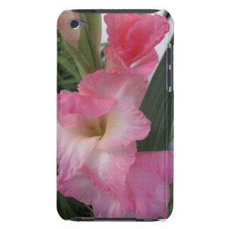 Flores rosadas del gladiolo funda para iPod